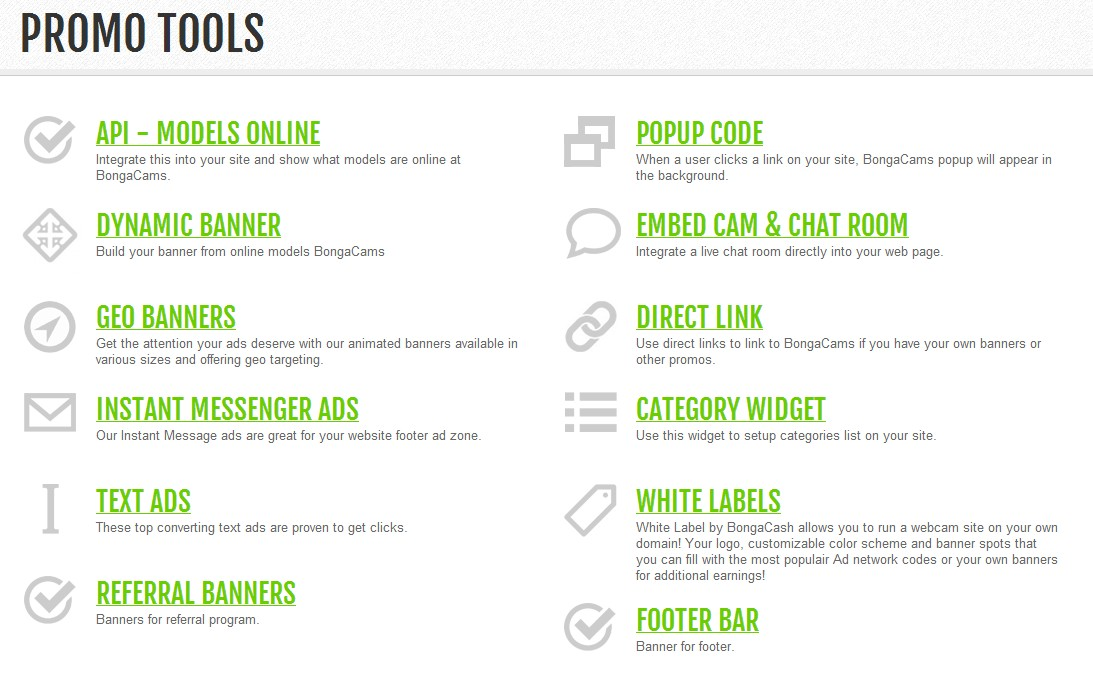 Bongacams white label tools